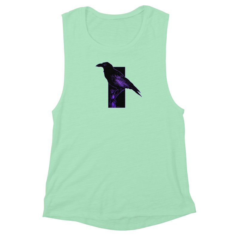 Crow Women's Muscle Tank by Ambrose H.H.'s Artist Shop