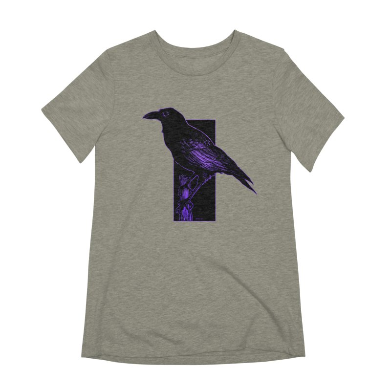 Crow Women's Extra Soft T-Shirt by Ambrose H.H.'s Artist Shop