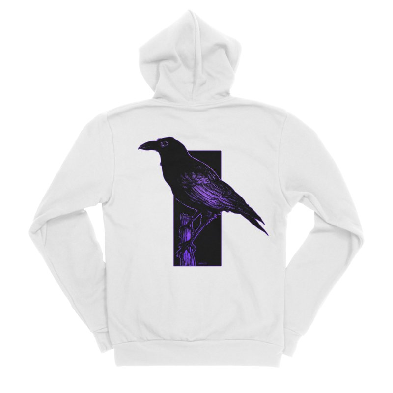 Crow Women's Zip-Up Hoody by Ambrose H.H.'s Artist Shop