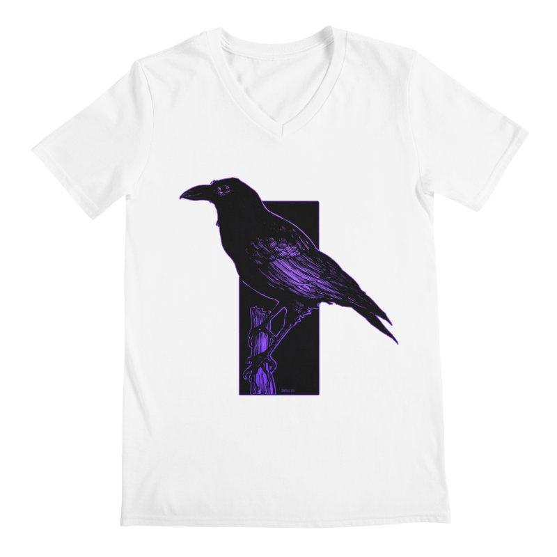 Crow Men's V-Neck by Ambrose H.H.'s Artist Shop