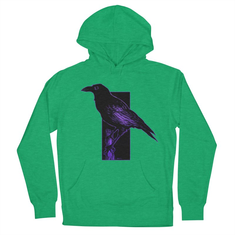 Crow Men's French Terry Pullover Hoody by Ambrose H.H.'s Artist Shop