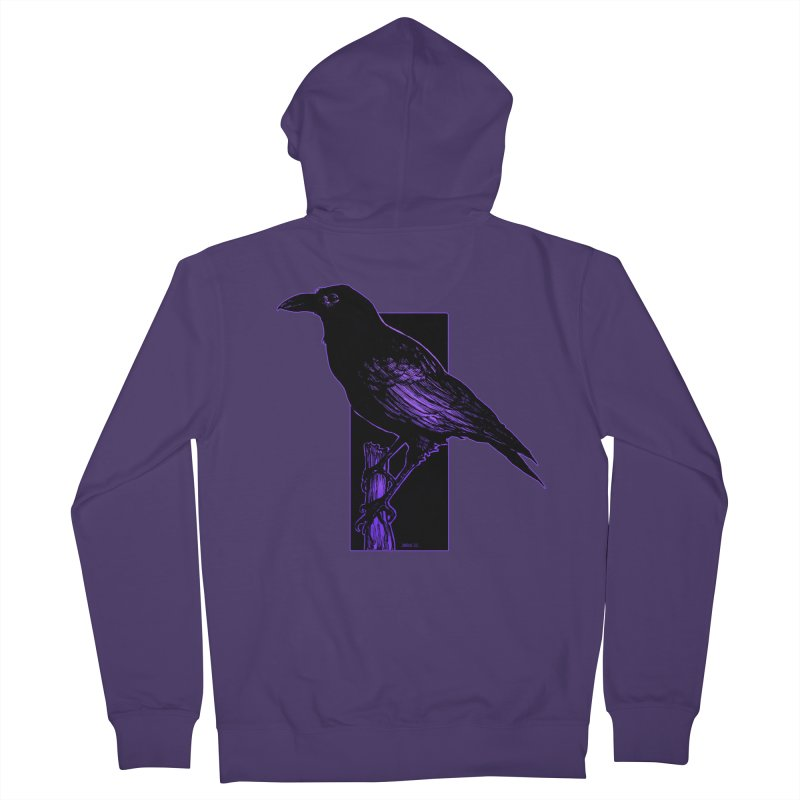 Crow Women's French Terry Zip-Up Hoody by Ambrose H.H.'s Artist Shop