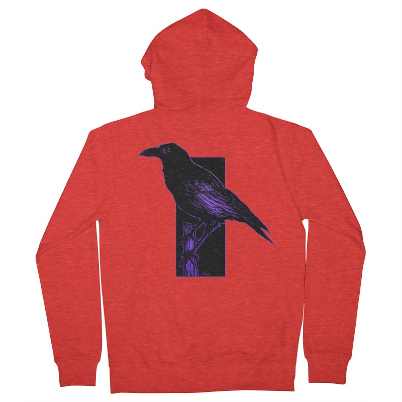 Crow Men's Zip-Up Hoody by Ambrose H.H.'s Artist Shop