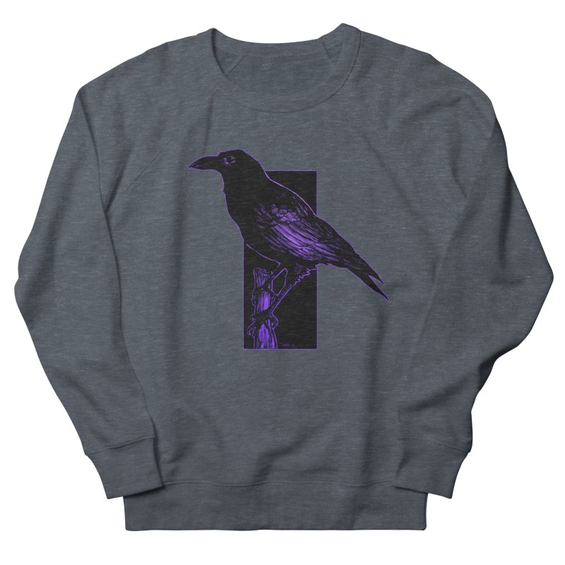 Crow Men's French Terry Sweatshirt by Ambrose H.H.'s Artist Shop