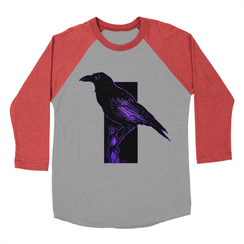 Crow Women's Baseball Triblend Longsleeve T-Shirt by Ambrose H.H.'s Artist Shop
