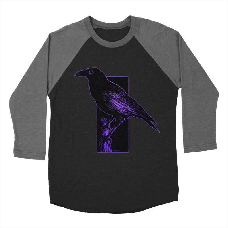 Crow Women's Baseball Triblend Longsleeve T-Shirt by Ambrose H.H.'s Artist Shop