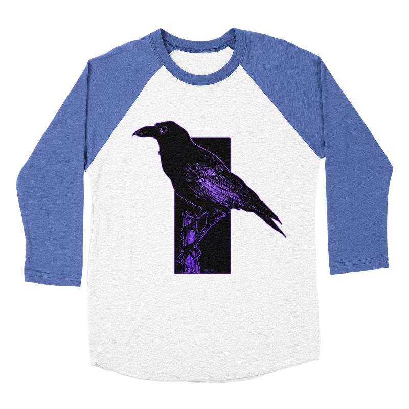 Crow Men's Baseball Triblend Longsleeve T-Shirt by Ambrose H.H.'s Artist Shop