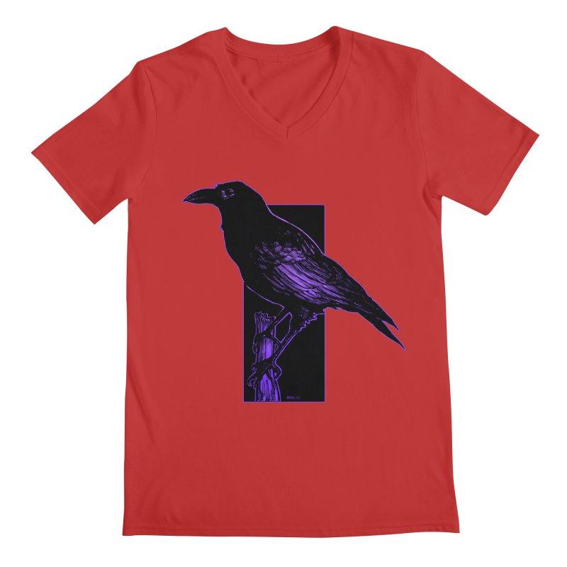 Crow Men's Regular V-Neck by Ambrose H.H.'s Artist Shop