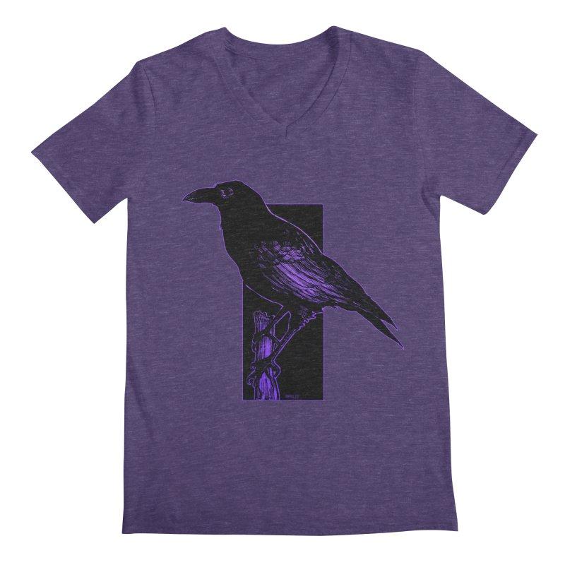 Crow Men's V-Neck by Ambrose H.H.'s Artist Shop
