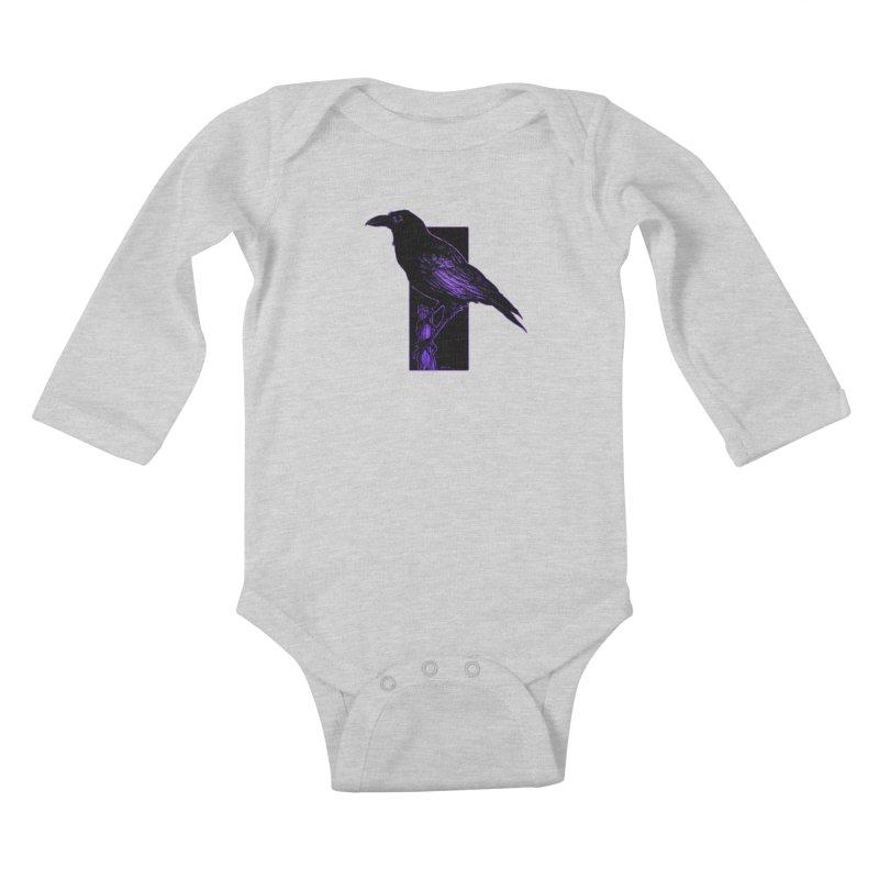 Crow Kids Baby Longsleeve Bodysuit by Ambrose H.H.'s Artist Shop