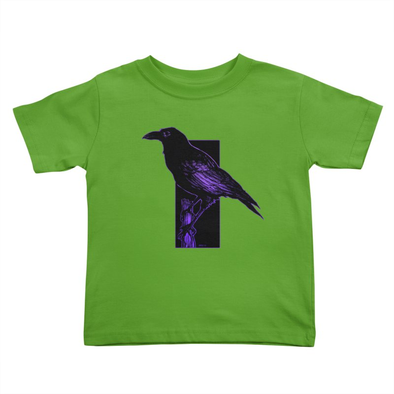 Crow Kids Toddler T-Shirt by Ambrose H.H.'s Artist Shop