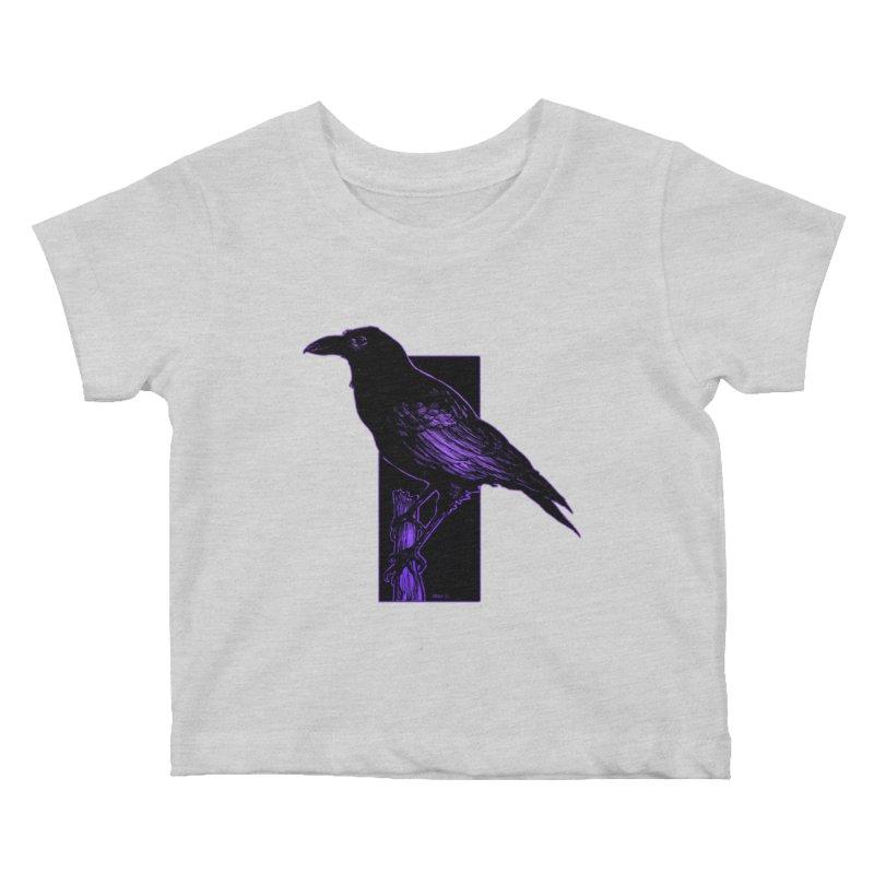 Crow Kids Baby T-Shirt by Ambrose H.H.'s Artist Shop