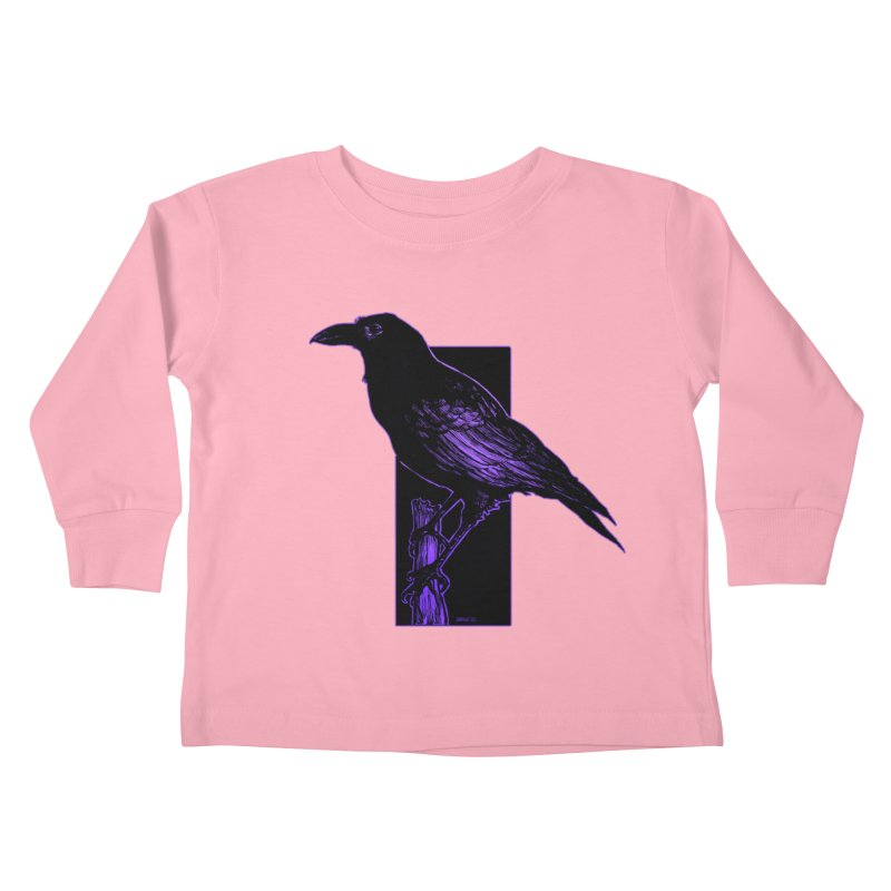 Crow Kids Toddler Longsleeve T-Shirt by Ambrose H.H.'s Artist Shop