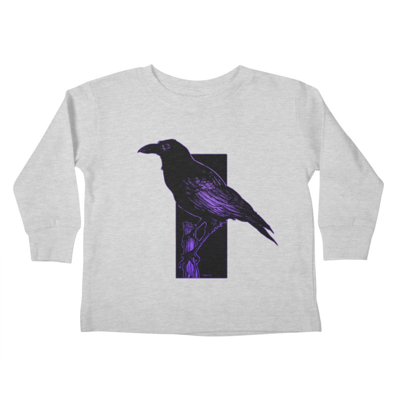 Crow Kids Toddler Longsleeve T-Shirt by Ambrose H.H.'s Artist Shop