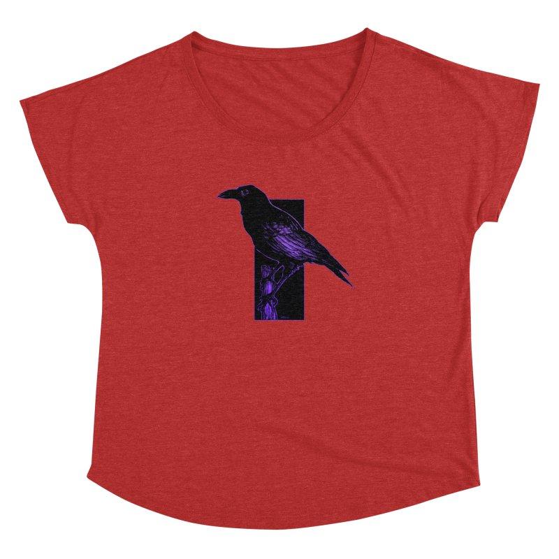 Crow Women's Dolman Scoop Neck by Ambrose H.H.'s Artist Shop