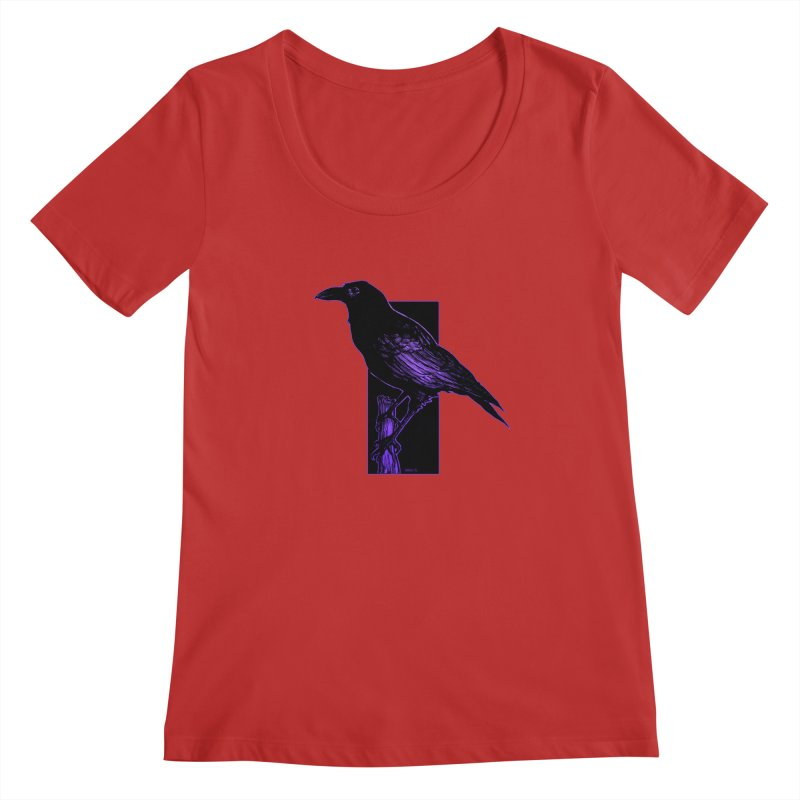 Crow Women's Regular Scoop Neck by Ambrose H.H.'s Artist Shop