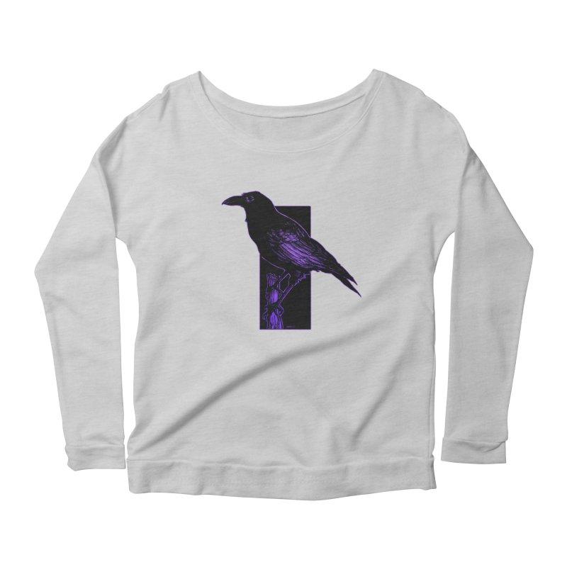 Crow Women's Scoop Neck Longsleeve T-Shirt by Ambrose H.H.'s Artist Shop