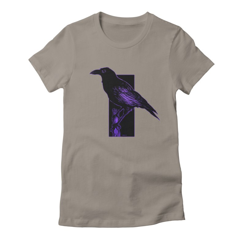 Crow Women's Fitted T-Shirt by Ambrose H.H.'s Artist Shop