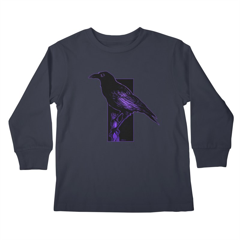 Crow Kids Longsleeve T-Shirt by Ambrose H.H.'s Artist Shop