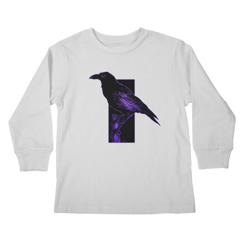 Crow Kids Longsleeve T-Shirt by Ambrose H.H.'s Artist Shop
