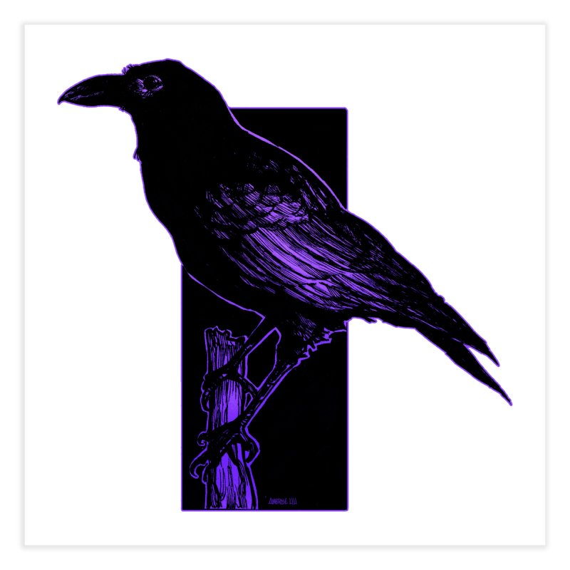 Crow Home Fine Art Print by Ambrose H.H.'s Artist Shop