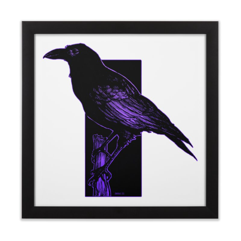 Crow Home Framed Fine Art Print by Ambrose H.H.'s Artist Shop