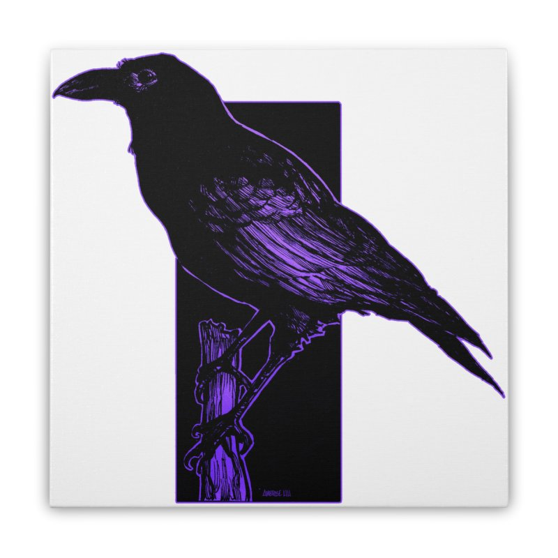 Crow Home Stretched Canvas by Ambrose H.H.'s Artist Shop