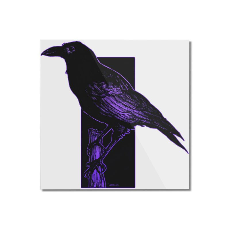 Crow Home Mounted Acrylic Print by Ambrose H.H.'s Artist Shop