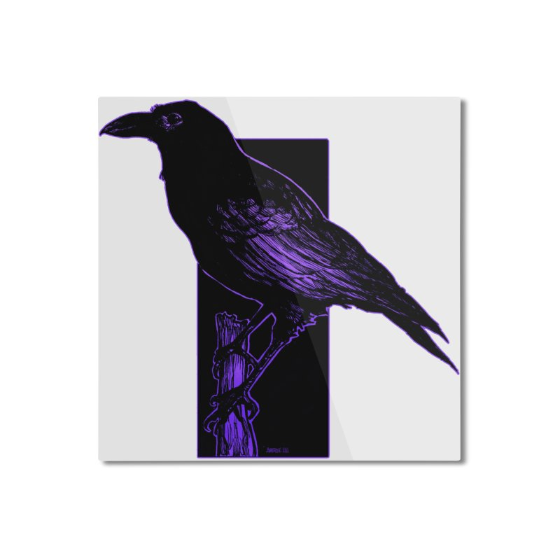 Crow Home Mounted Aluminum Print by Ambrose H.H.'s Artist Shop