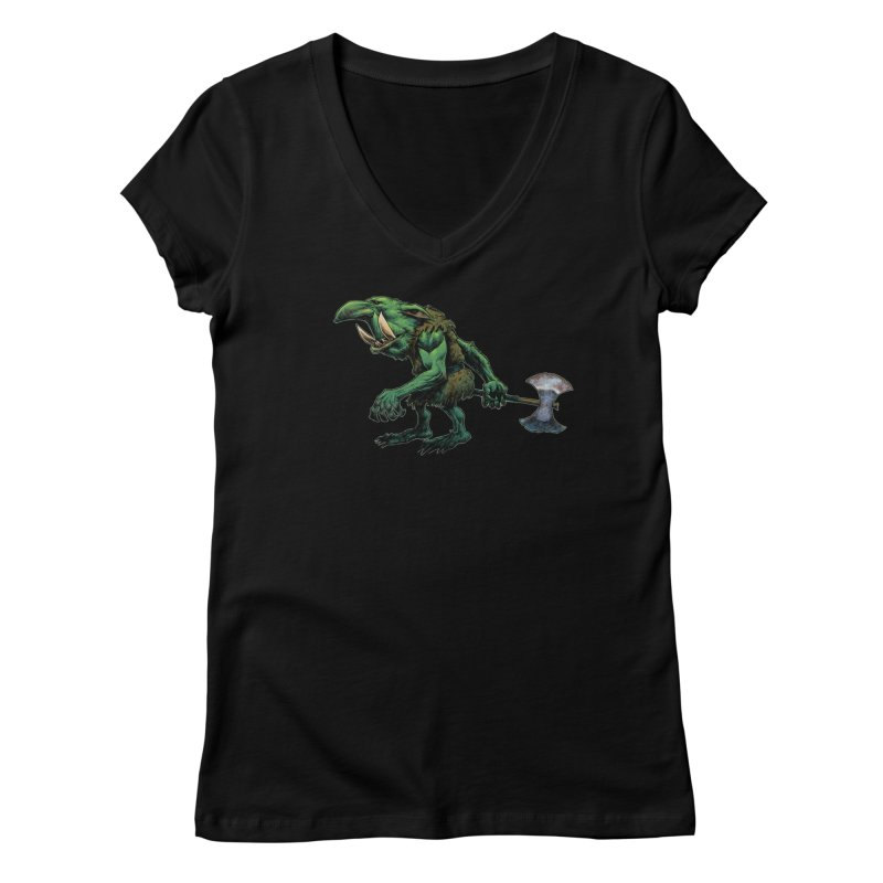Goblin Women's V-Neck by Ambrose H.H.'s Artist Shop