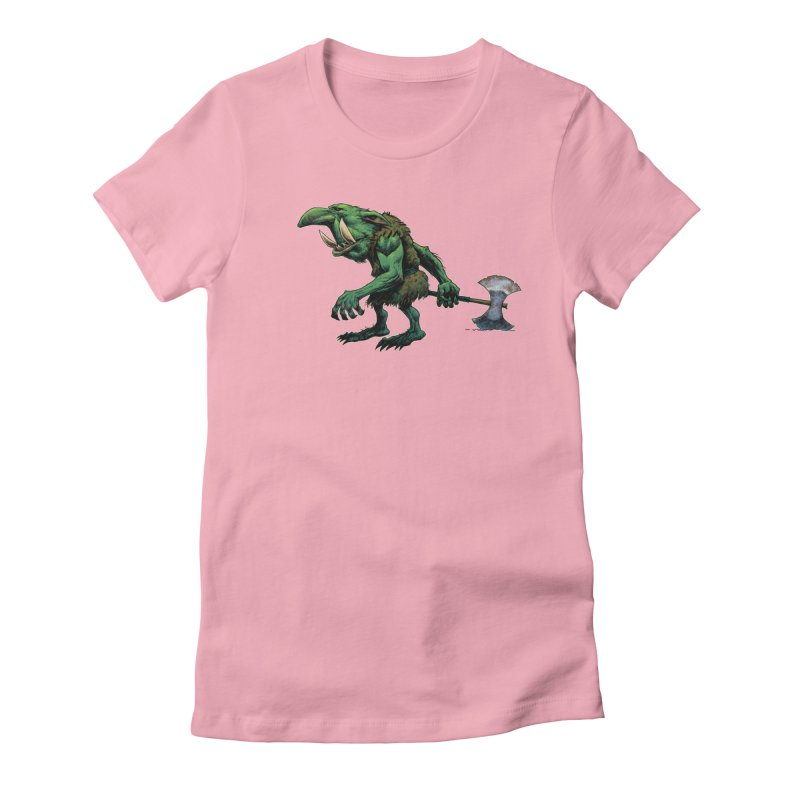Goblin Women's Fitted T-Shirt by Ambrose H.H.'s Artist Shop