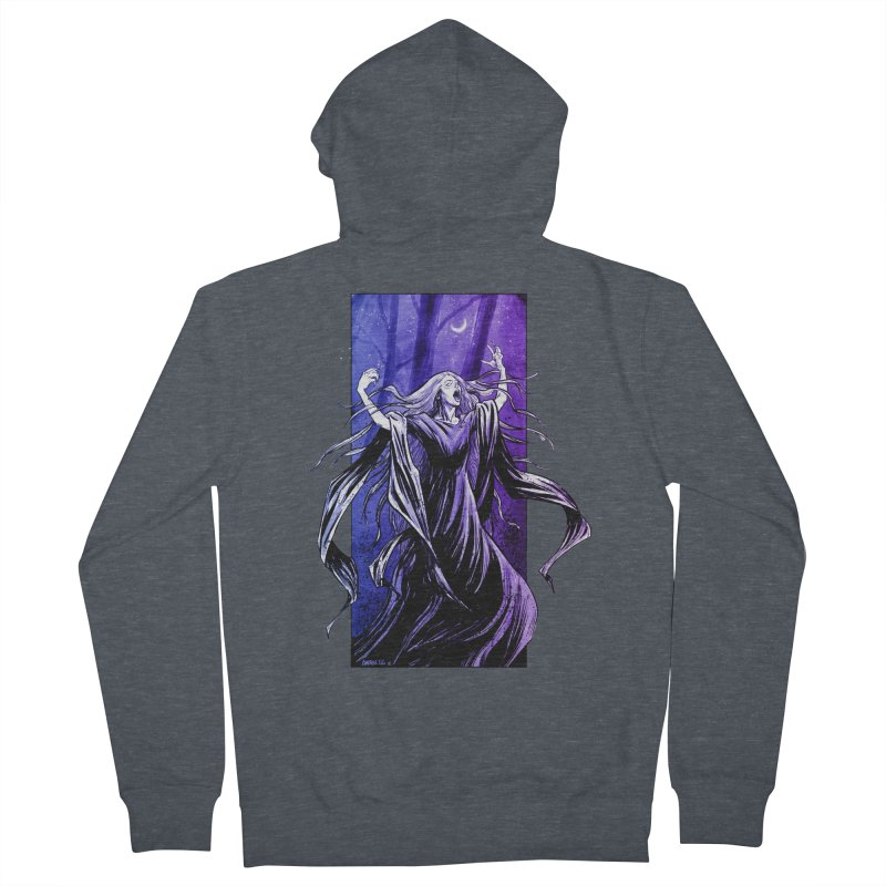 Banshee Men's French Terry Zip-Up Hoody by Ambrose H.H.'s Artist Shop