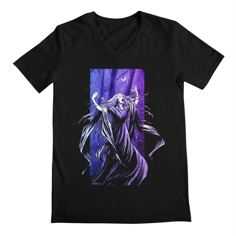 Banshee Men's Regular V-Neck by Ambrose H.H.'s Artist Shop