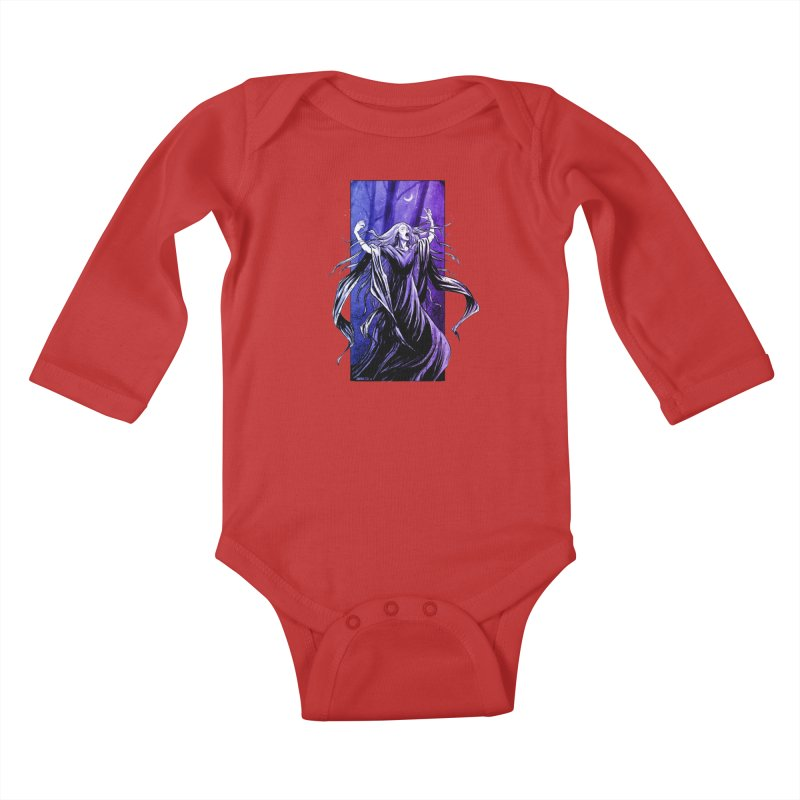 Banshee Kids Baby Longsleeve Bodysuit by Ambrose H.H.'s Artist Shop