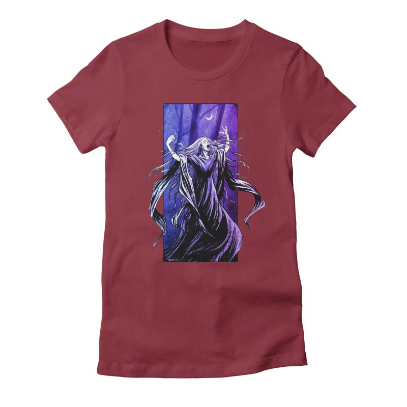 Banshee Women's Fitted T-Shirt by Ambrose H.H.'s Artist Shop