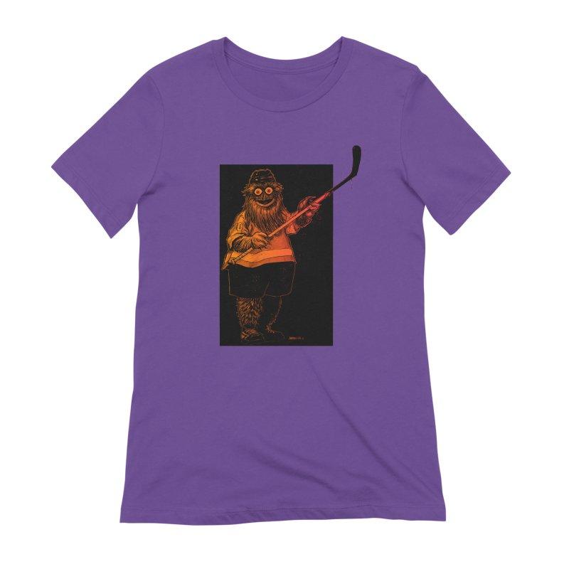 Gritty Women's Extra Soft T-Shirt by Ambrose H.H.'s Artist Shop