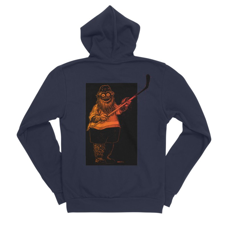 Gritty Men's Sponge Fleece Zip-Up Hoody by Ambrose H.H.'s Artist Shop