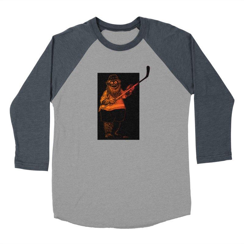 Gritty Women's Baseball Triblend Longsleeve T-Shirt by Ambrose H.H.'s Artist Shop