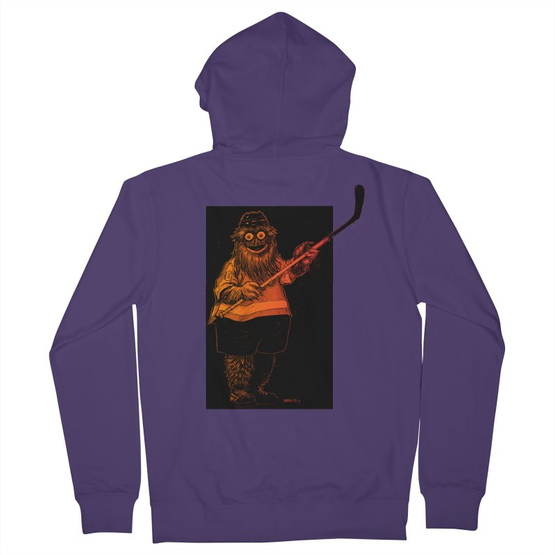 Gritty Women's French Terry Zip-Up Hoody by Ambrose H.H.'s Artist Shop