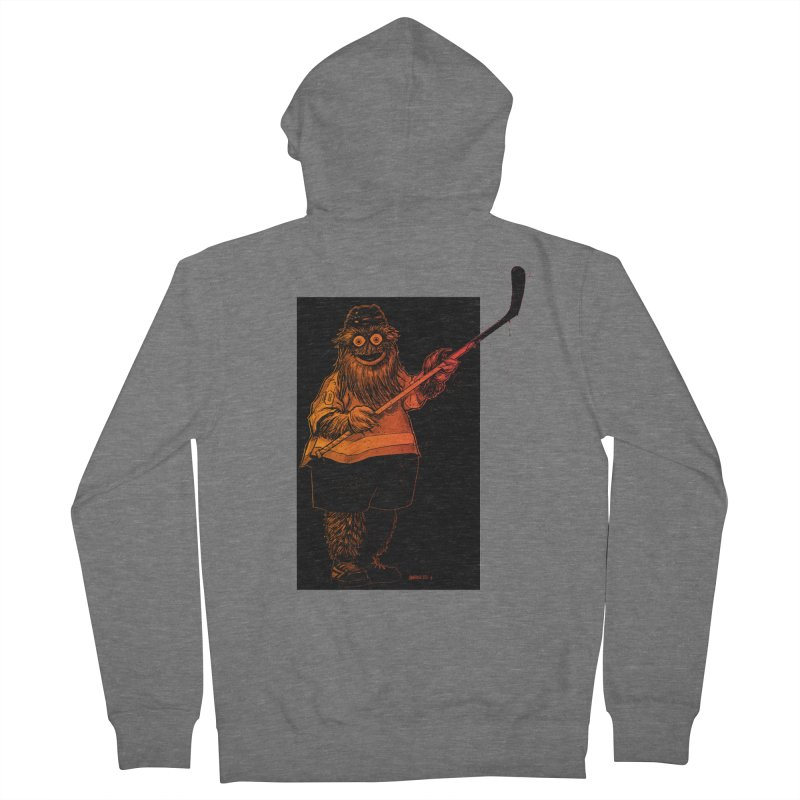Gritty Men's Zip-Up Hoody by Ambrose H.H.'s Artist Shop