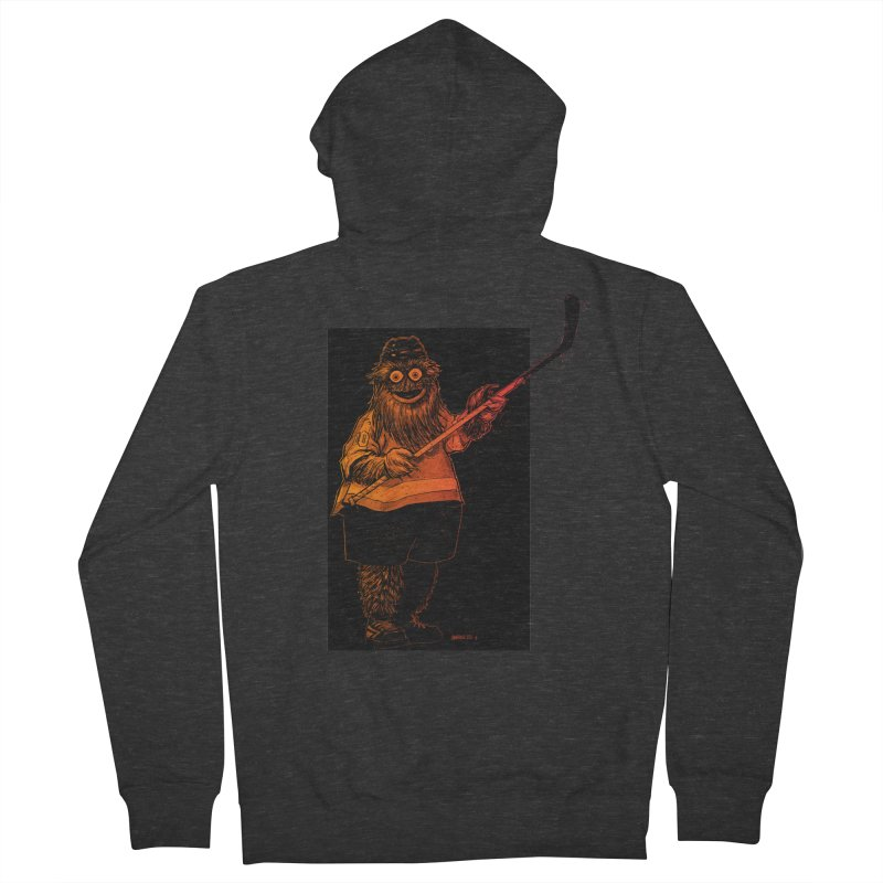 Gritty Men's French Terry Zip-Up Hoody by Ambrose H.H.'s Artist Shop