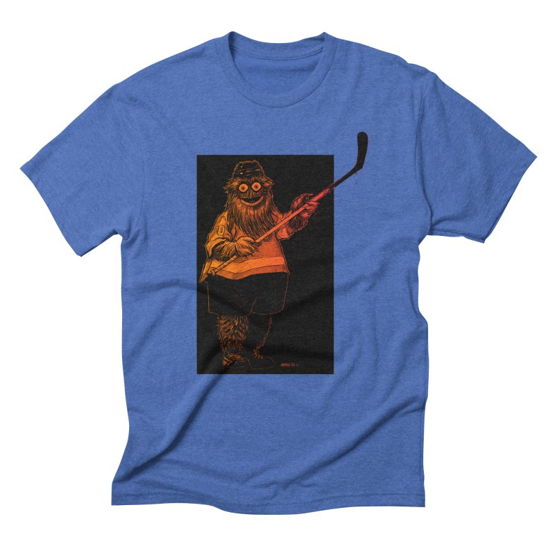 Gritty Men's Triblend T-Shirt by Ambrose H.H.'s Artist Shop