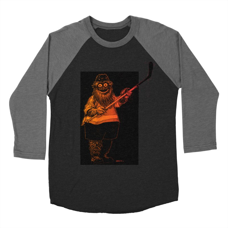Gritty Women's Baseball Triblend Longsleeve T-Shirt by Ambrose H.H.'s Artist Shop