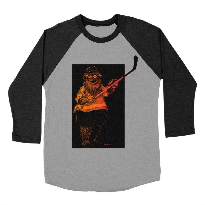 Gritty Men's Baseball Triblend Longsleeve T-Shirt by Ambrose H.H.'s Artist Shop