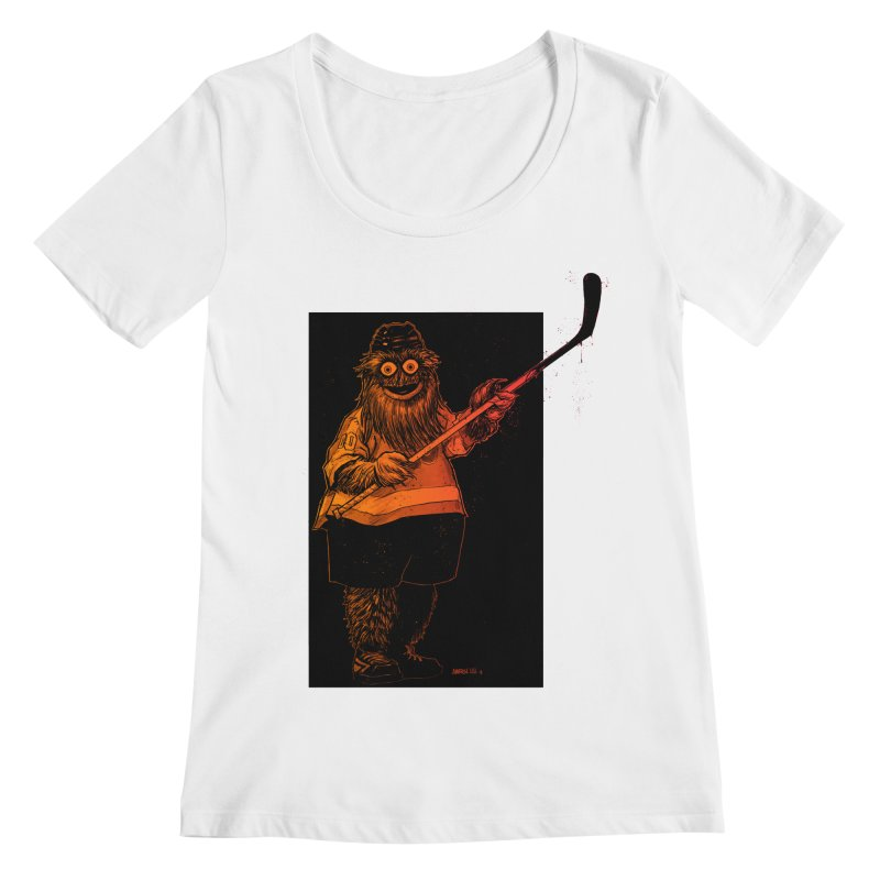 Gritty Women's Regular Scoop Neck by Ambrose H.H.'s Artist Shop