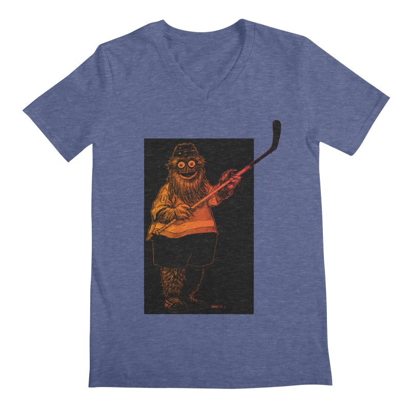 Gritty Men's V-Neck by Ambrose H.H.'s Artist Shop