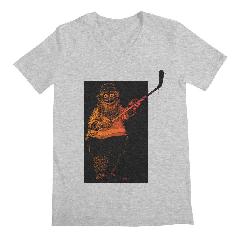 Gritty Men's Regular V-Neck by Ambrose H.H.'s Artist Shop