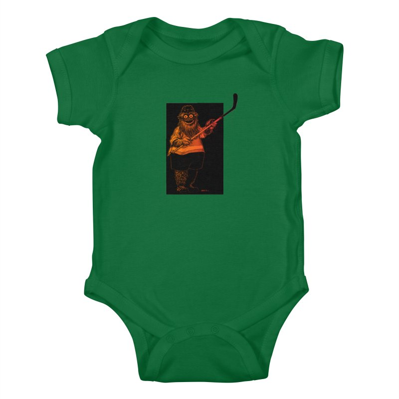 Gritty Kids Baby Bodysuit by Ambrose H.H.'s Artist Shop