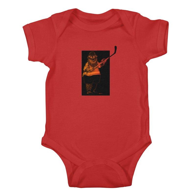 Gritty Kids Baby Bodysuit by Ambrose H.H.'s Artist Shop