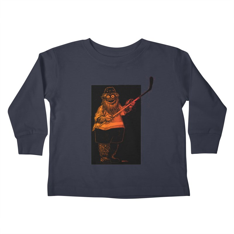 Gritty Kids Toddler Longsleeve T-Shirt by Ambrose H.H.'s Artist Shop
